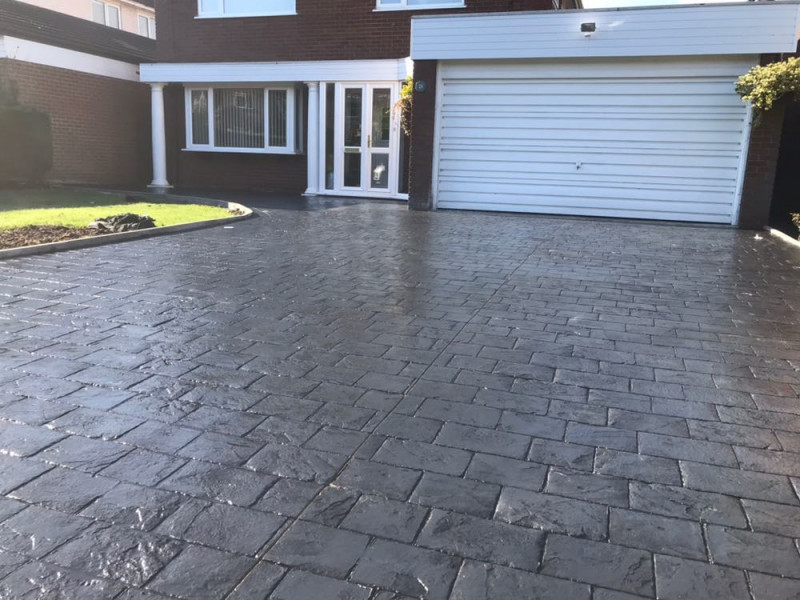 new concrete driveway in Bowden