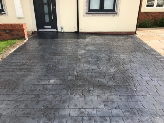 new pattern imprinted concrete driveway in Macclesfield
