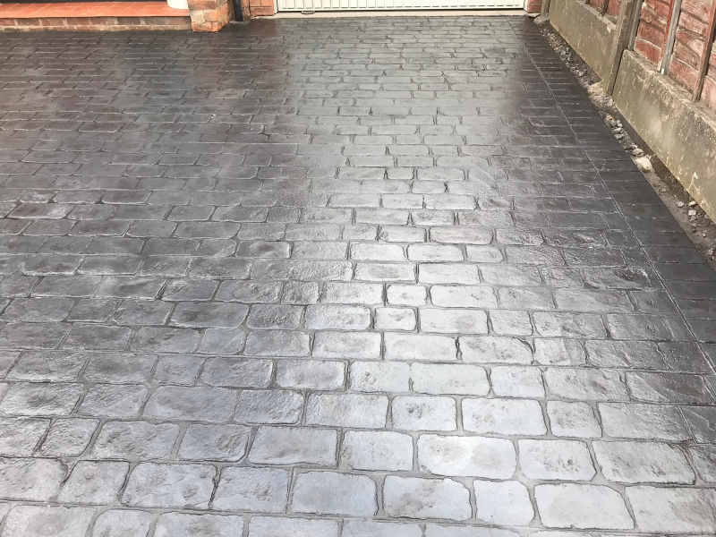 New Concrete Driveway in Flixton