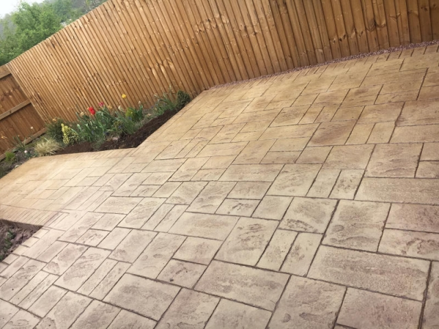 New patio in Salford by Lasting Impressions Driveways