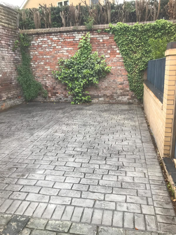 New Parking Area Installed using Pattern Imprinted Concrete in Altrincham
