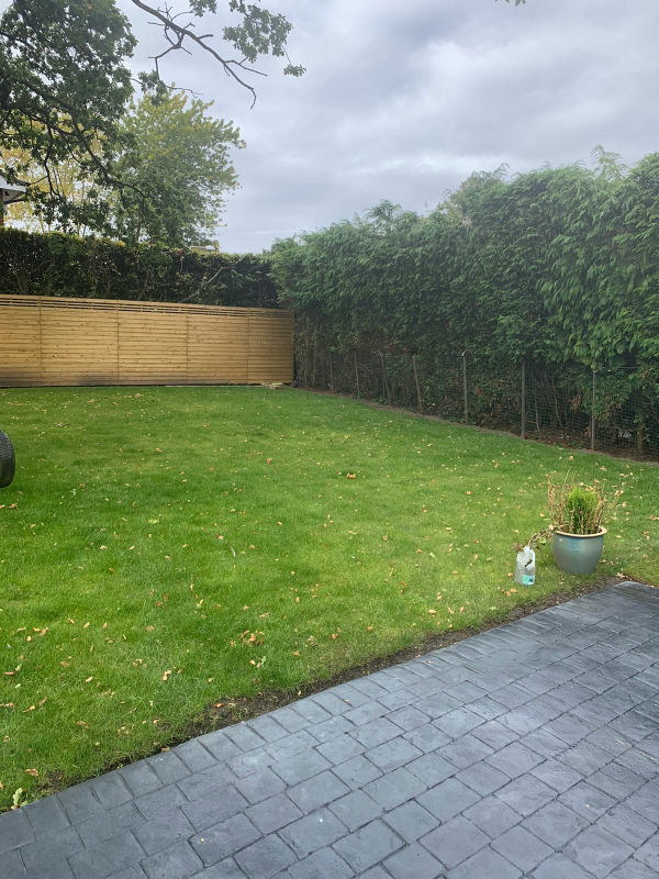 Full landscape and new Patio in Heald Green, Stockport by Lasting Impressions Driveways