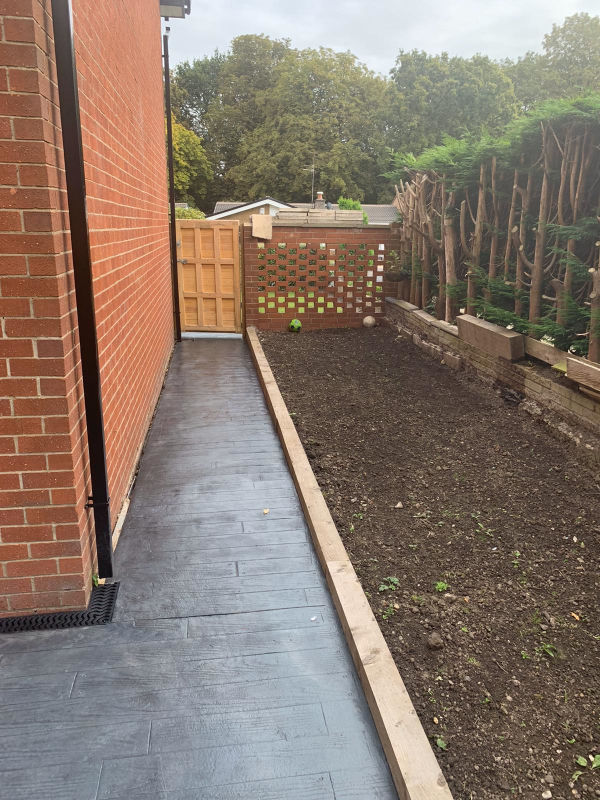 Full landscape and concrete project in Heald Green, Stockport by Lasting Impressions Driveways