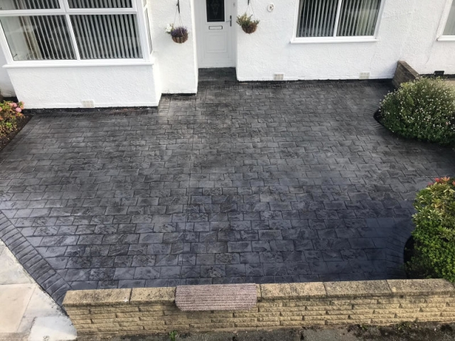 New driveway Bebbington area of Wirral by Lasting Impressions Driveways