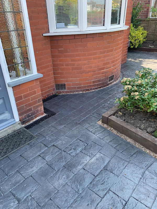 New pattern imprinted concrete driveway Sale Manchester