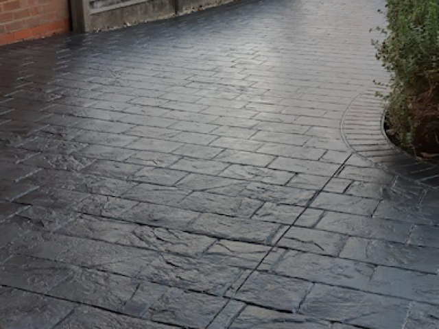 New imprinted concrete driveway in Sale Manchester