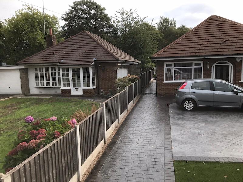 New Pattern Imprinted Concrete Driveway in Urmston