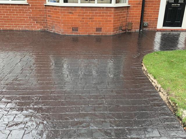 New Pattern Imprinted Concrete Driveway Urmston